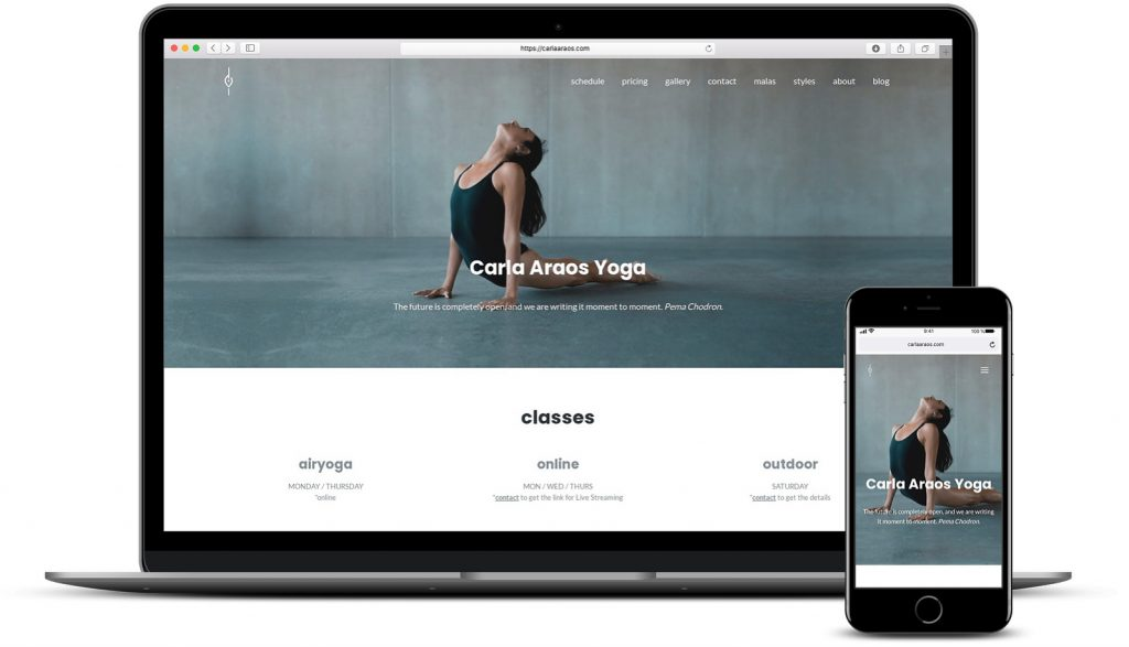 Project: Carla Araos Yoga